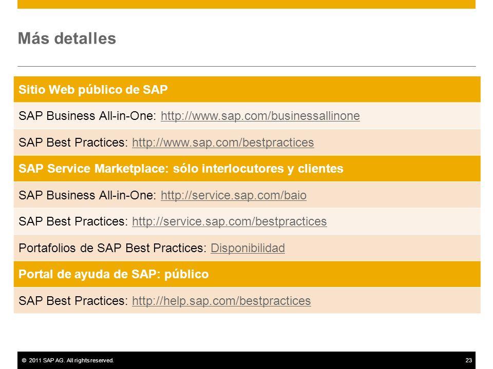 Más detalles Sitio Web público de SAP