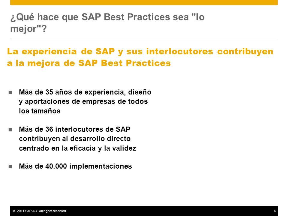 ¿Qué hace que SAP Best Practices sea lo mejor