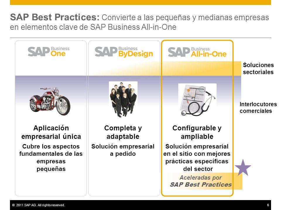 SAP Best Practices: Convierte a las pequeñas y medianas empresas en elementos clave de SAP Business All-in-One