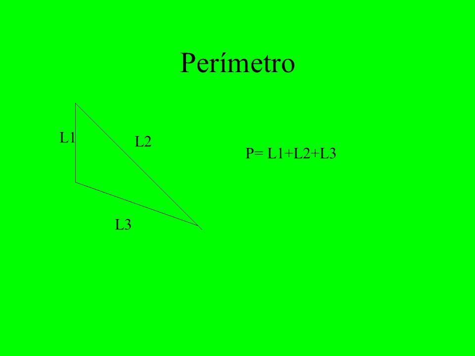 Perímetro L1 L2 P= L1+L2+L3 L3