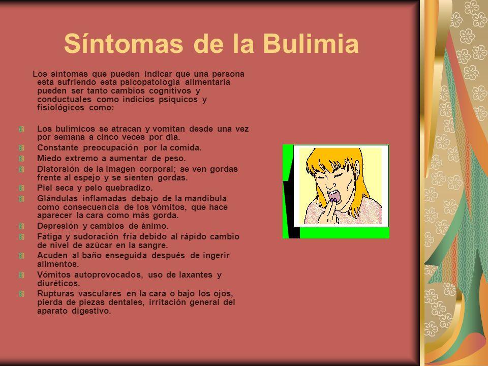 Síntomas de la Bulimia