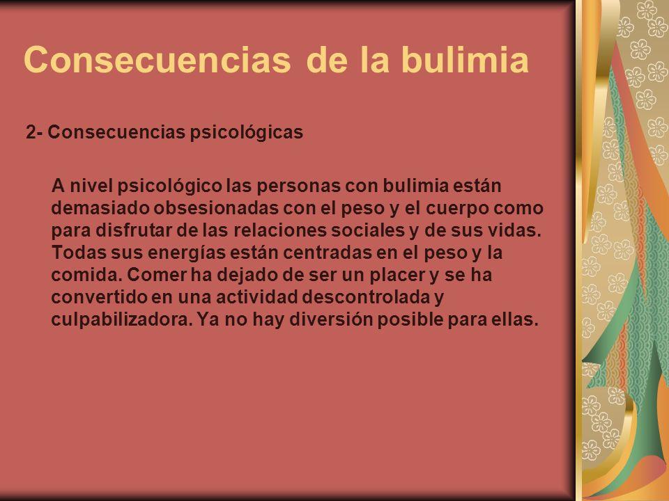 Consecuencias de la bulimia