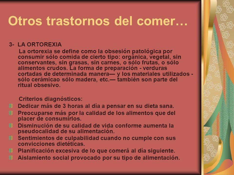Otros trastornos del comer…