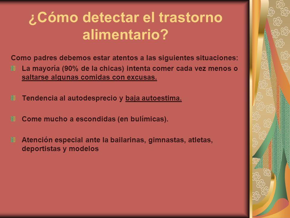 ¿Cómo detectar el trastorno alimentario