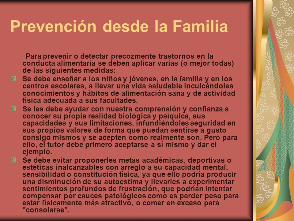 Prevención desde la Familia