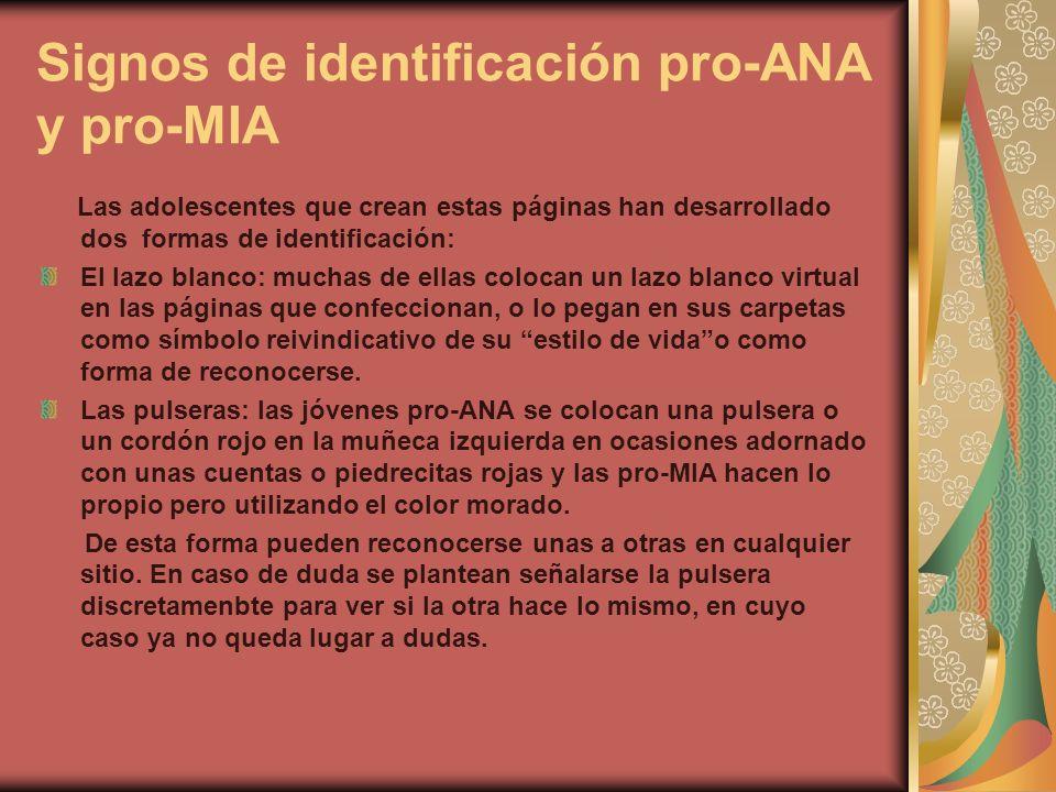 Signos de identificación pro-ANA y pro-MIA