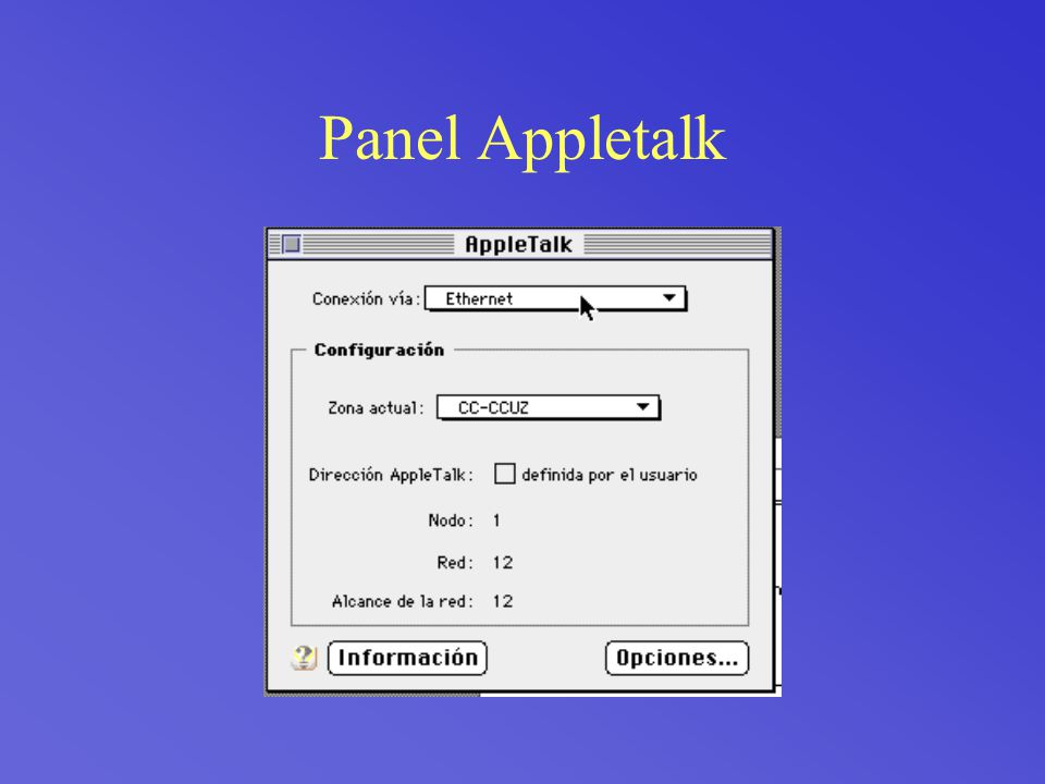 Panel Appletalk