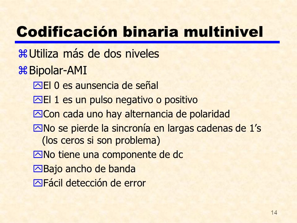 Codificación binaria multinivel