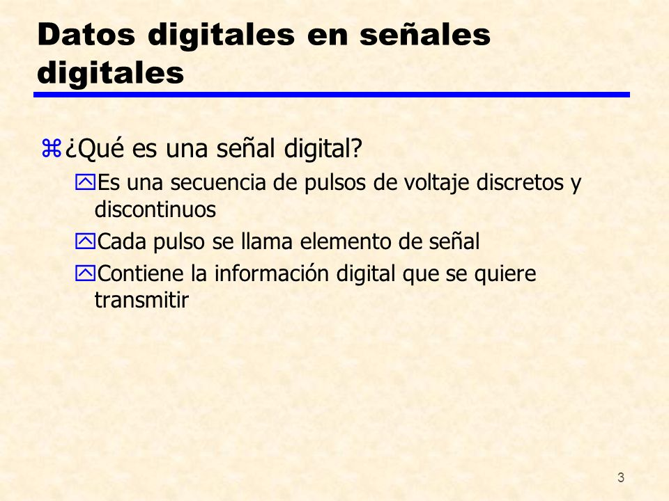 Datos digitales en señales digitales