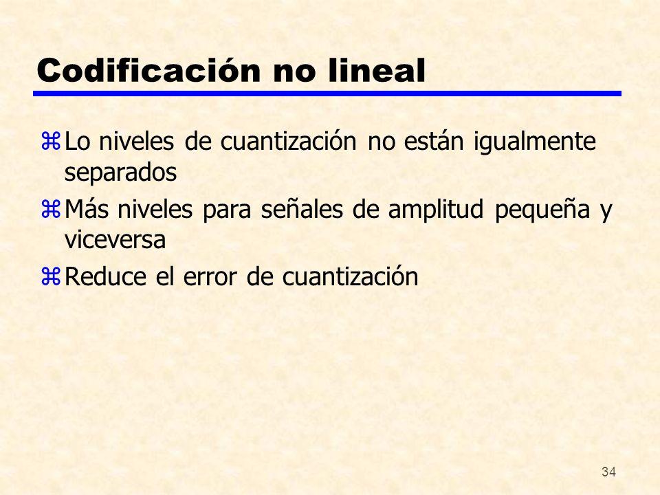 Codificación no lineal