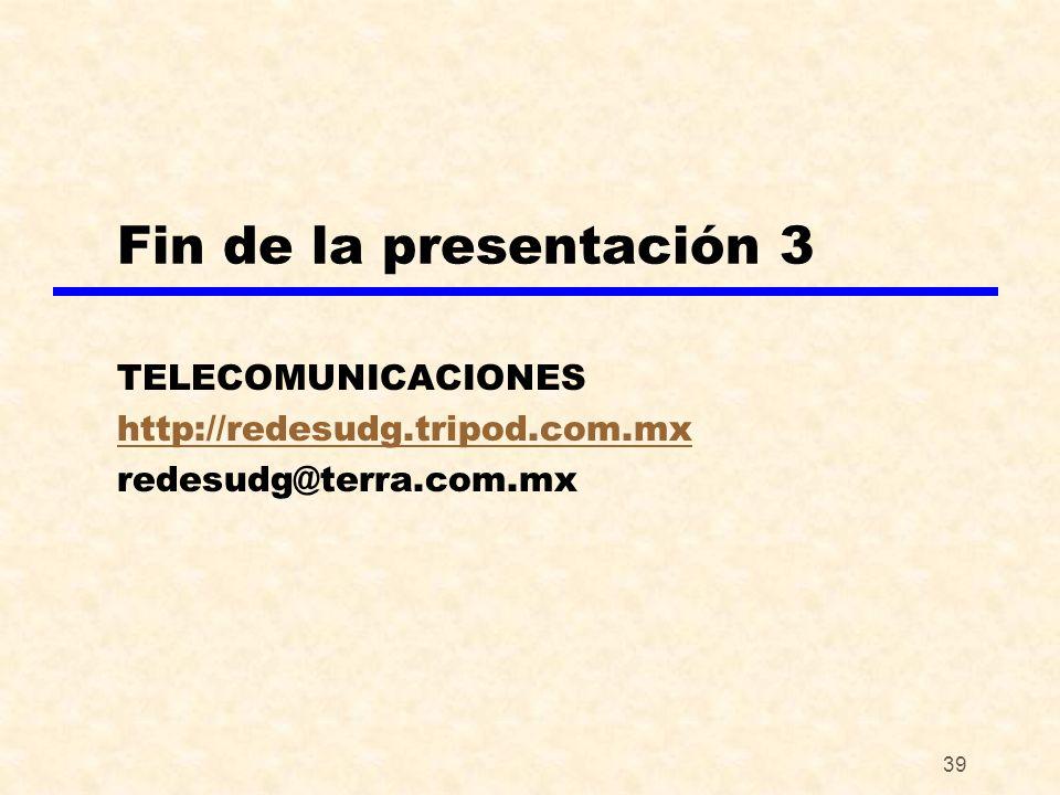 TELECOMUNICACIONES http://redesudg.tripod.com.mx redesudg@terra.com.mx