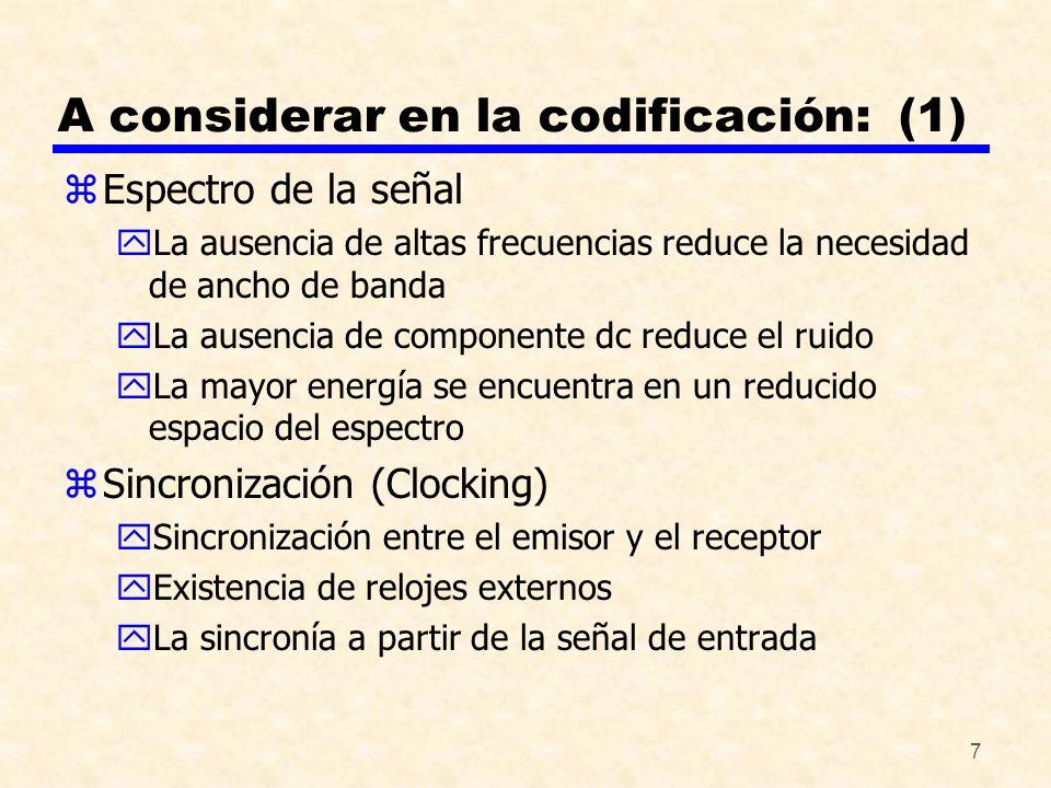 A considerar en la codificación: (1)