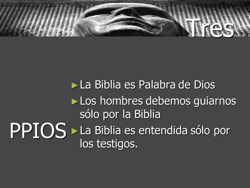Tres PPIOS La Biblia es Palabra de Dios