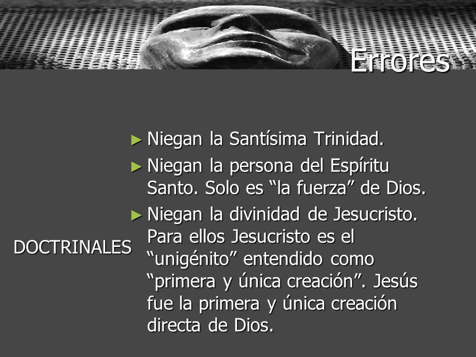Errores Niegan la Santísima Trinidad.