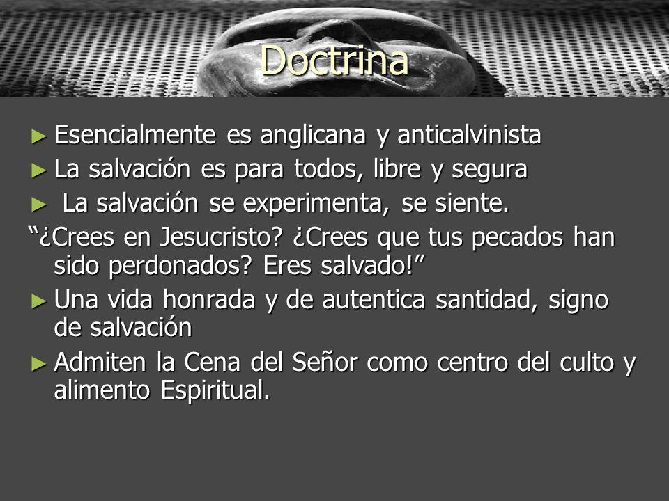 Doctrina Esencialmente es anglicana y anticalvinista