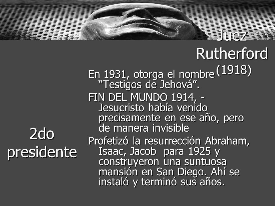 Juez Rutherford (1918) 2do presidente