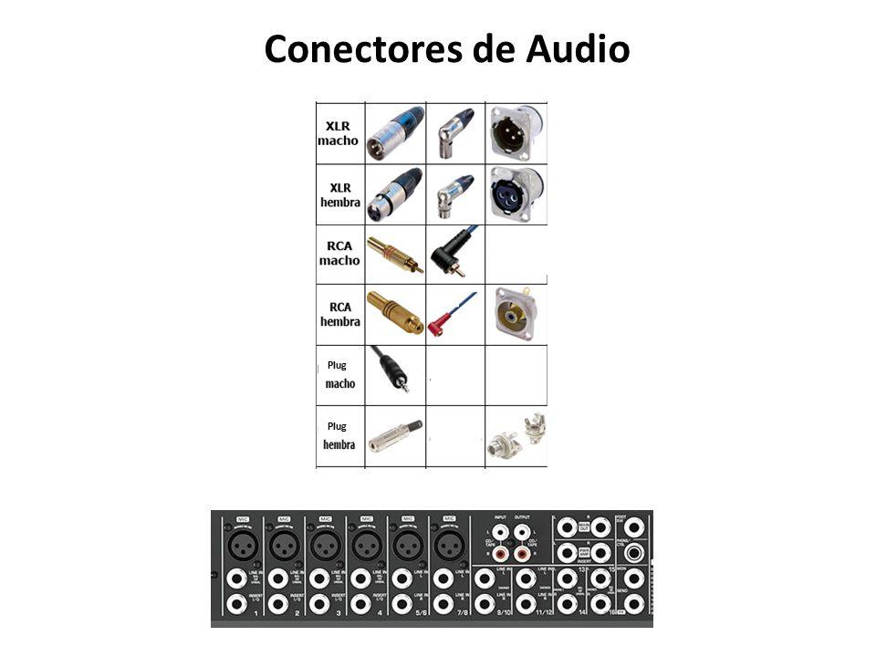 conectores de audio plug