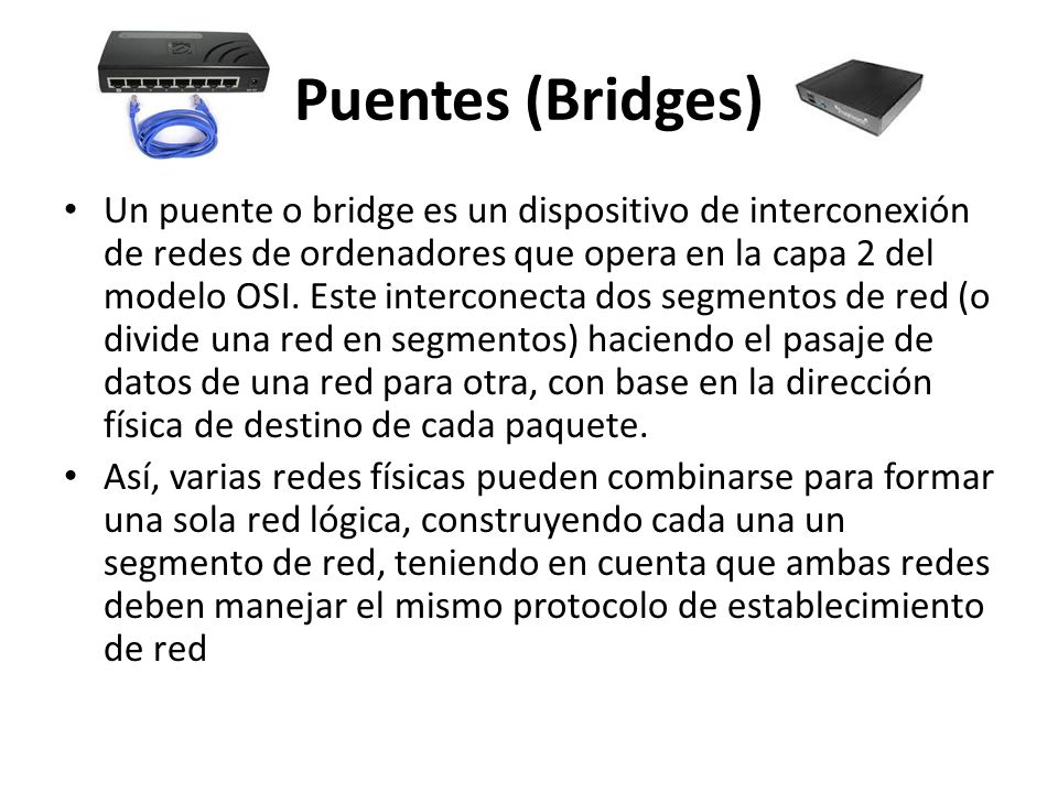 Puentes (Bridges)