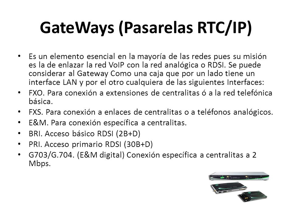 GateWays (Pasarelas RTC/IP)