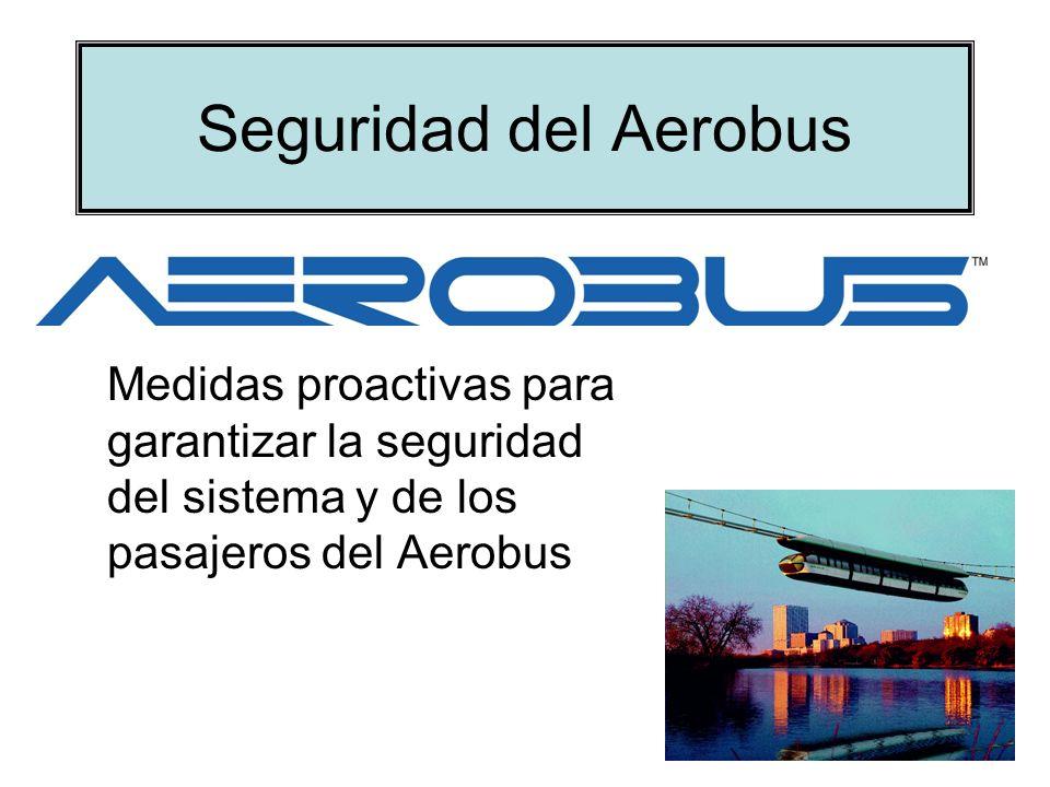 Seguridad del Aerobus Medidas proactivas para garantizar la seguridad del sistema y de los pasajeros del Aerobus.