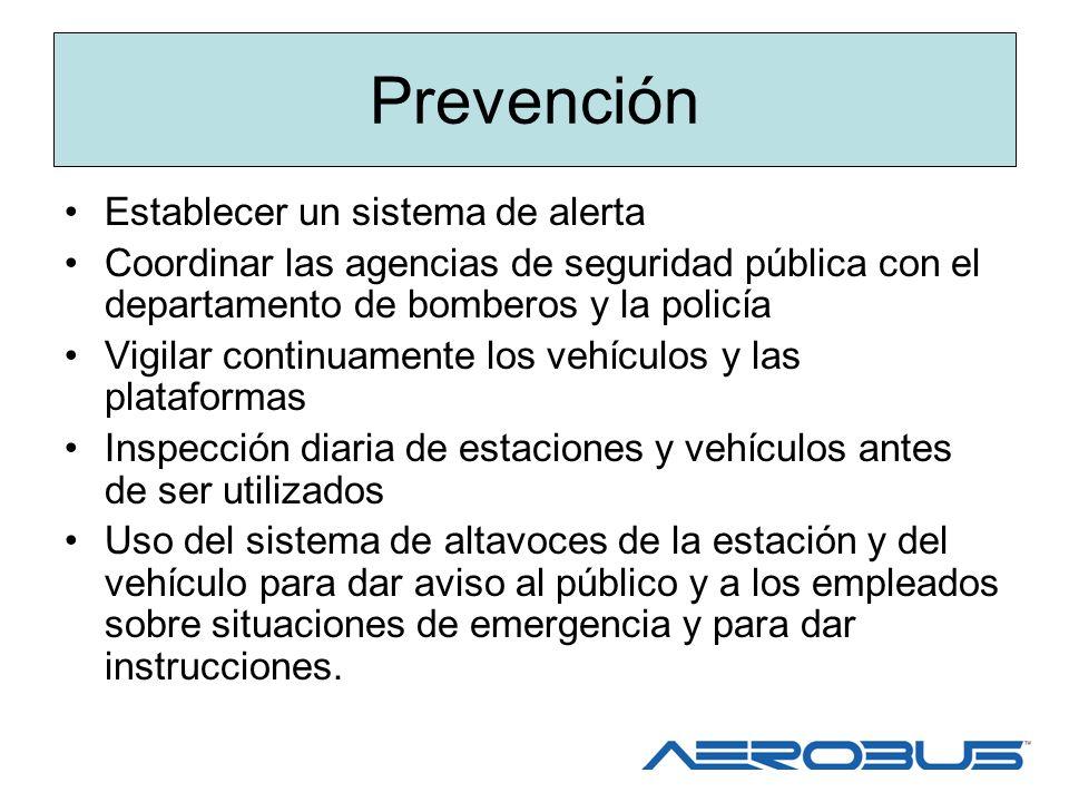 Prevención Establecer un sistema de alerta