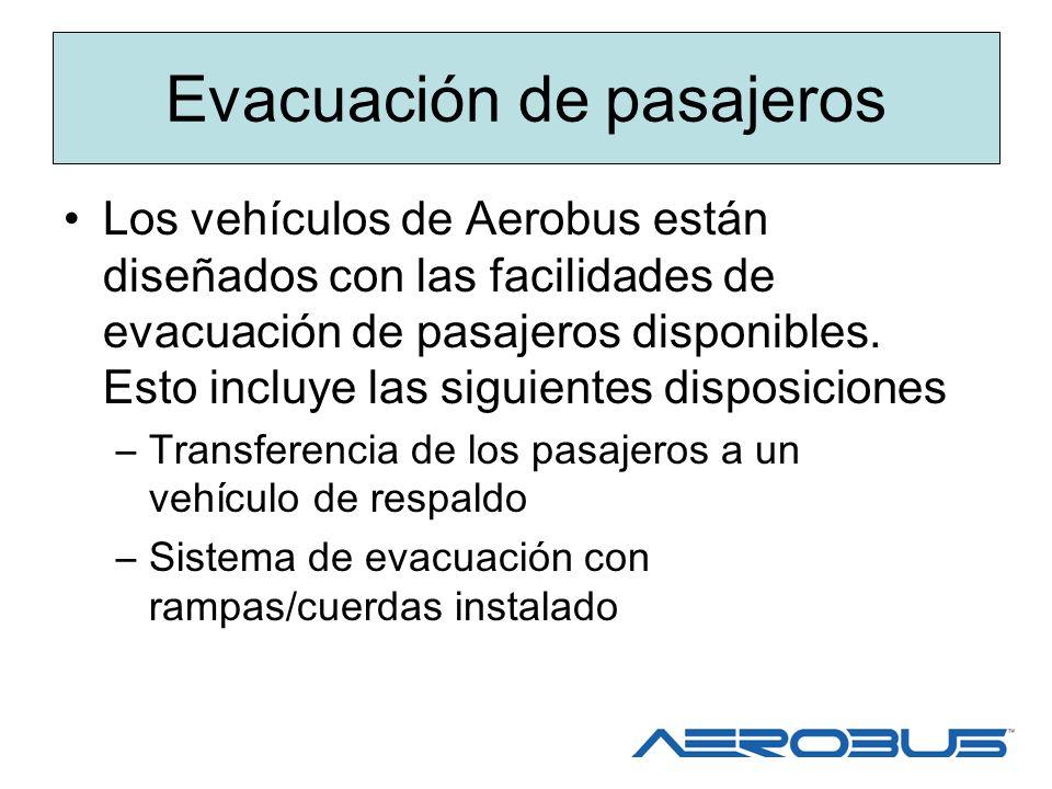 Evacuación de pasajeros