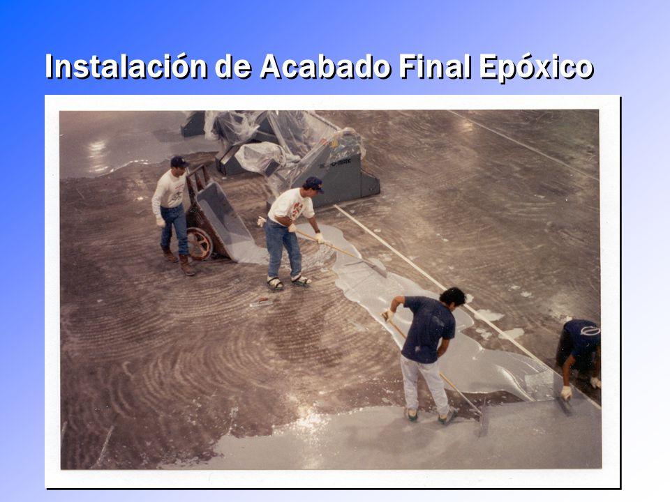 Instalación de Acabado Final Epóxico