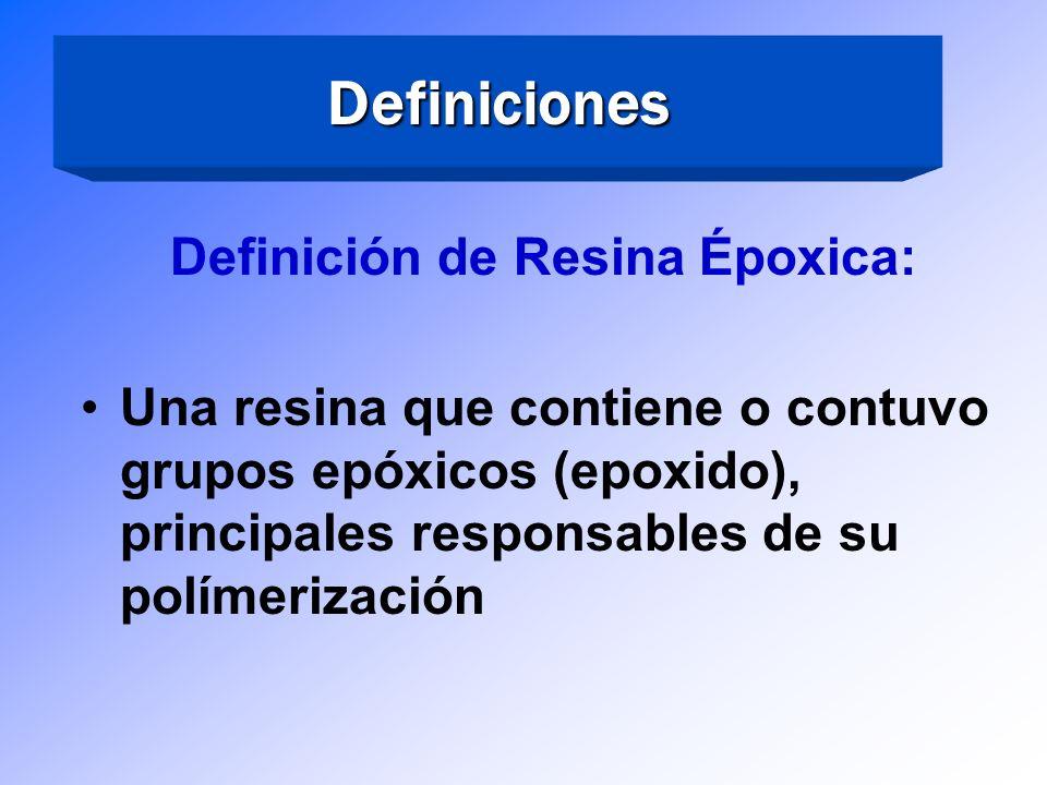 Definición de Resina Époxica: