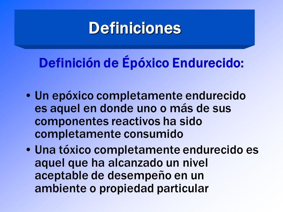 Definición de Épóxico Endurecido: