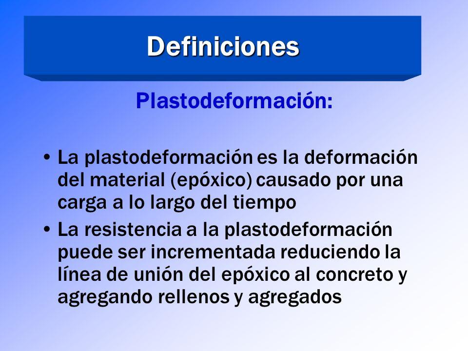 Definiciones Plastodeformación: