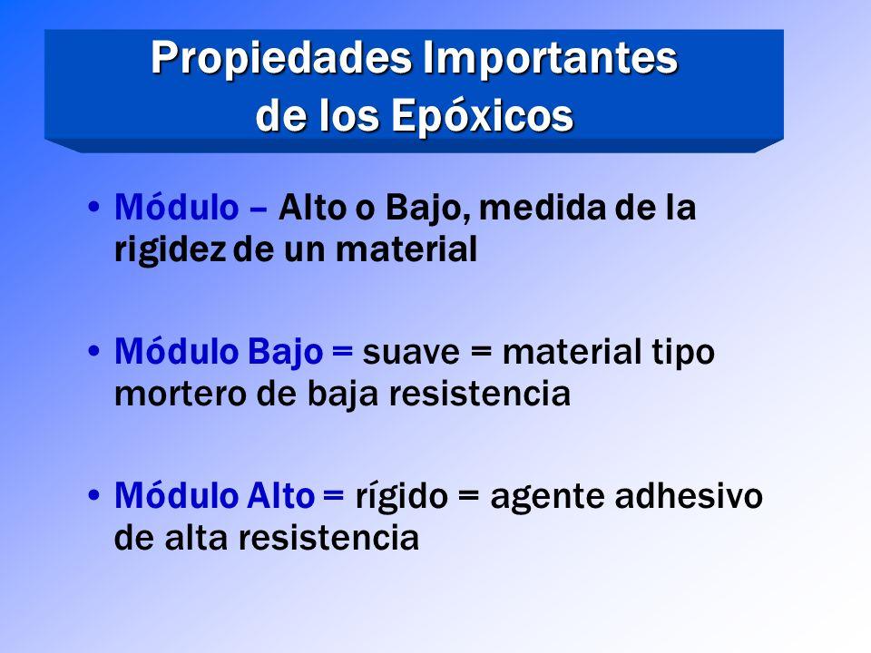 Propiedades Importantes de los Epóxicos