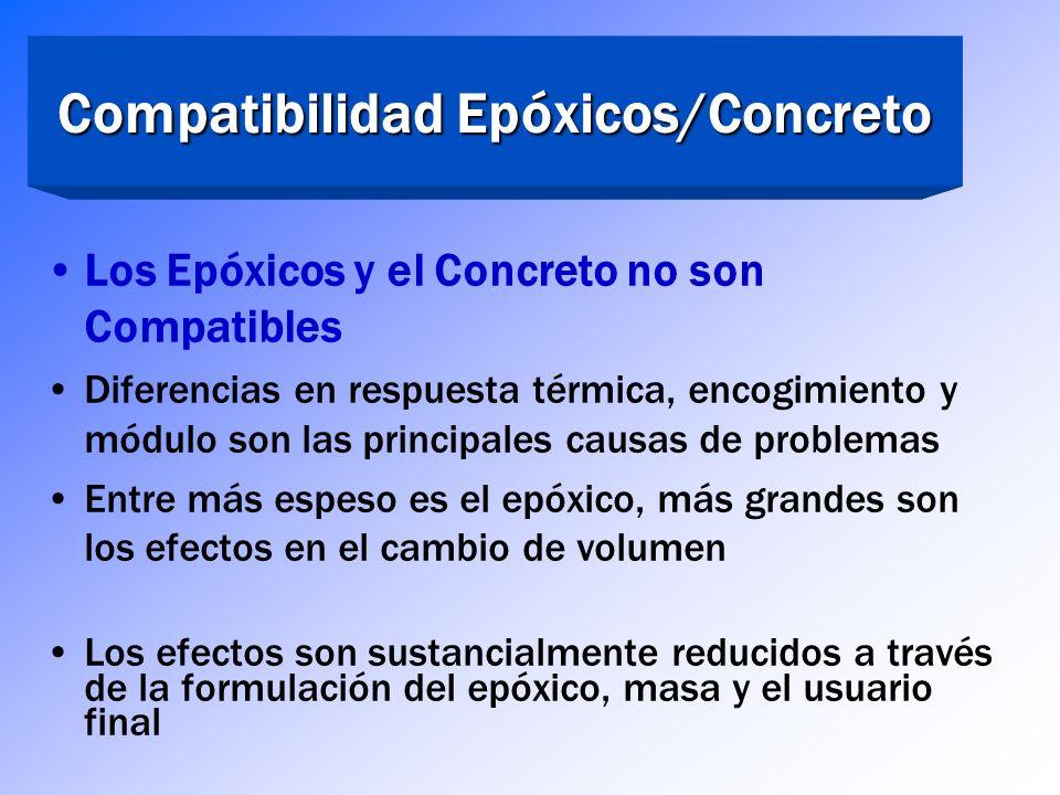 Compatibilidad Epóxicos/Concreto