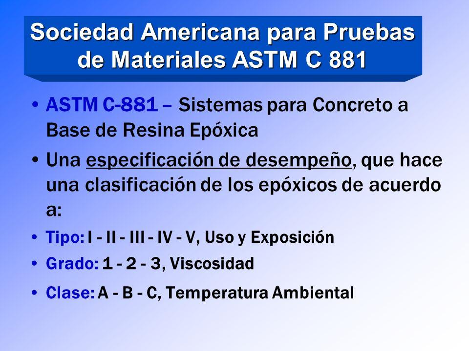 Sociedad Americana para Pruebas de Materiales ASTM C 881