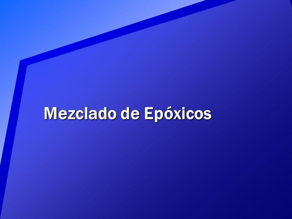 Mezclado de Epóxicos