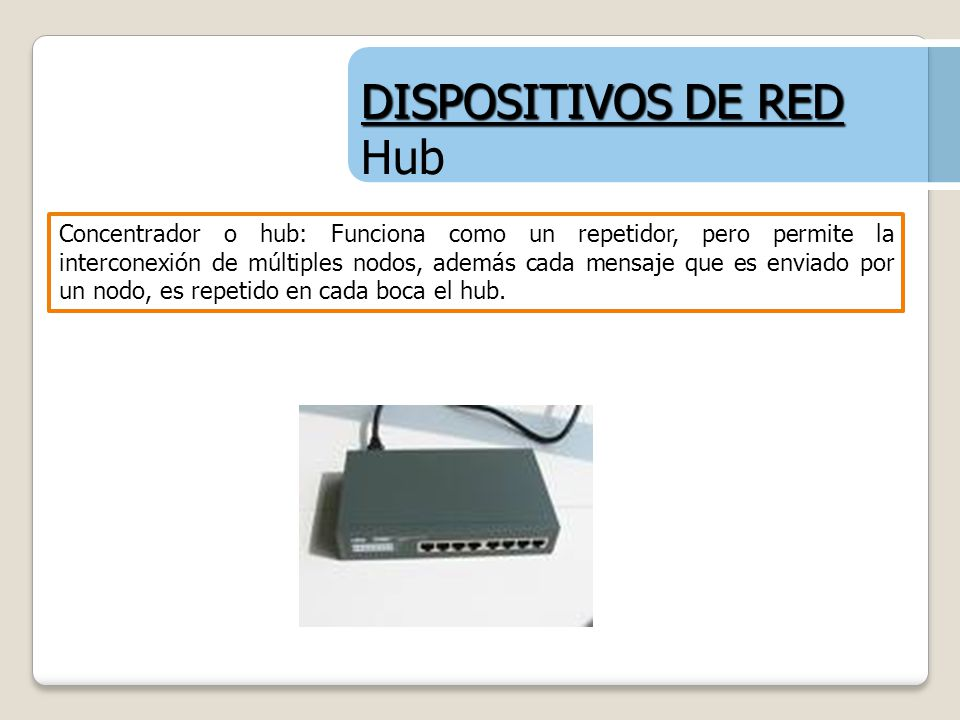 DISPOSITIVOS DE RED Hub