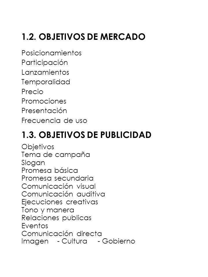 1.3. OBJETIVOS DE PUBLICIDAD