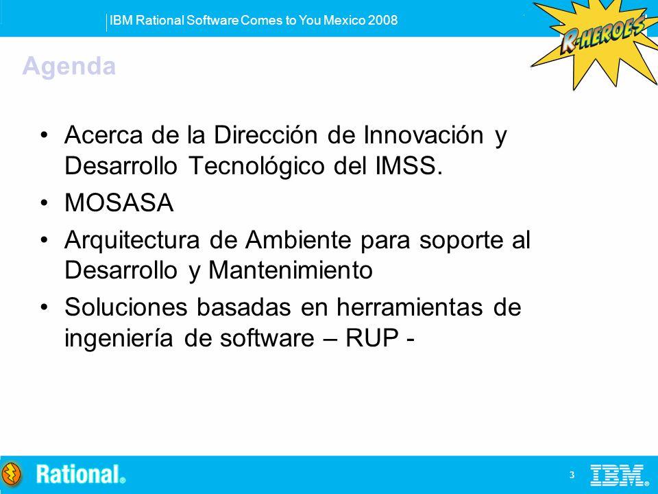 Agenda Acerca de la Dirección de Innovación y Desarrollo Tecnológico del IMSS. MOSASA.