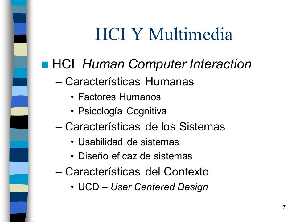 HCI Y Multimedia HCI Human Computer Interaction