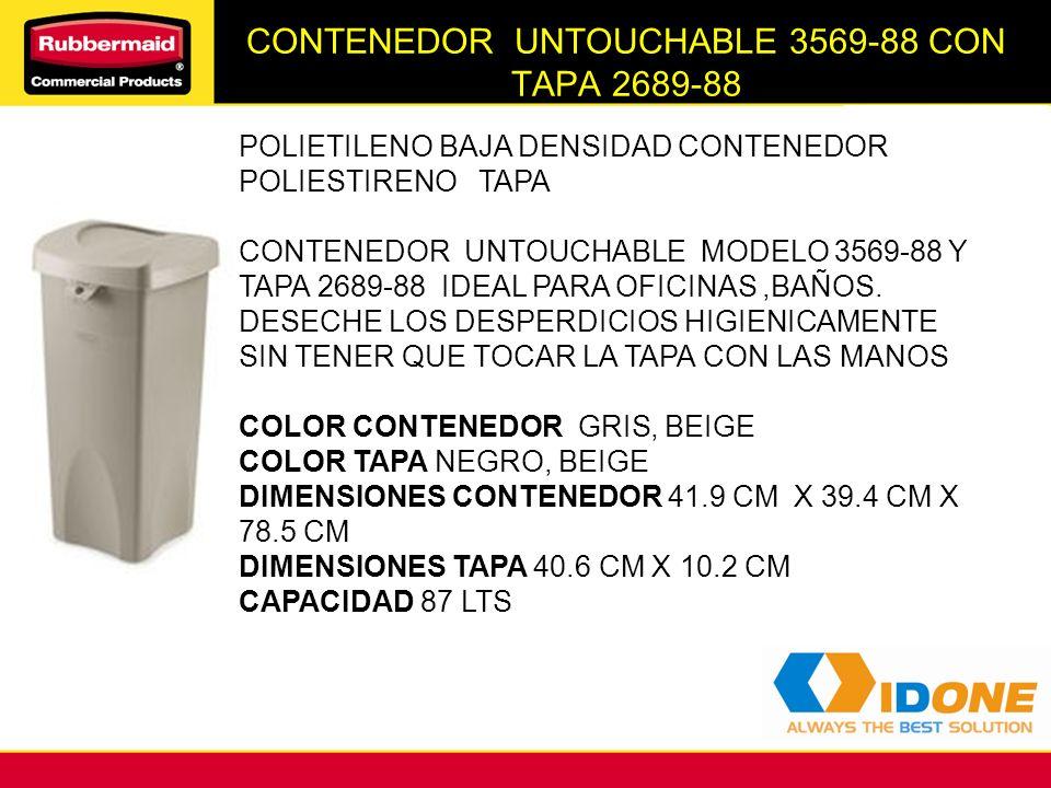 CONTENEDOR UNTOUCHABLE 3569-88 CON TAPA 2689-88