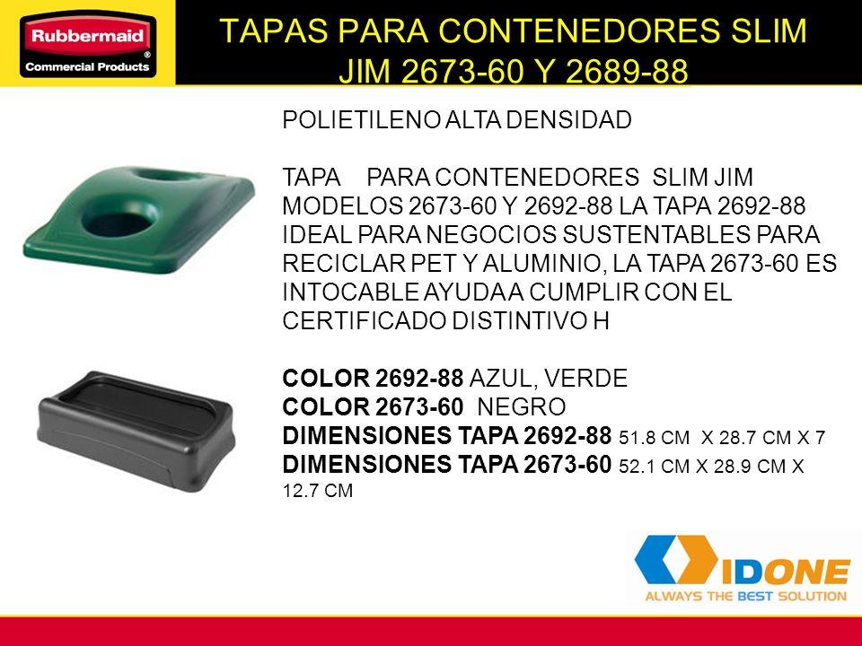 TAPAS PARA CONTENEDORES SLIM JIM 2673-60 Y 2689-88