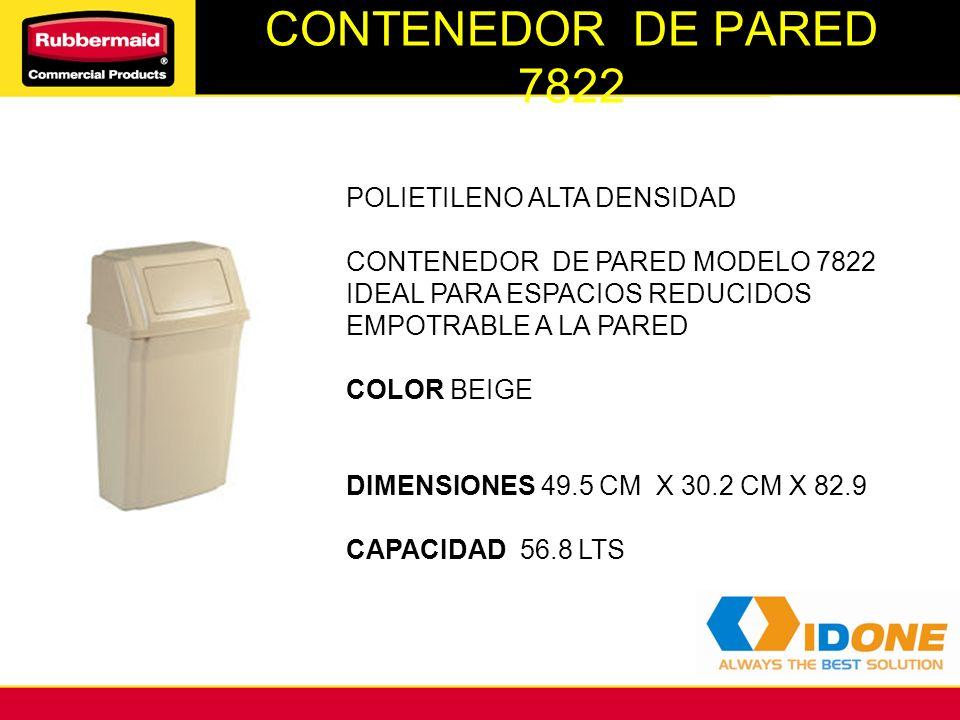 CONTENEDOR DE PARED 7822 POLIETILENO ALTA DENSIDAD