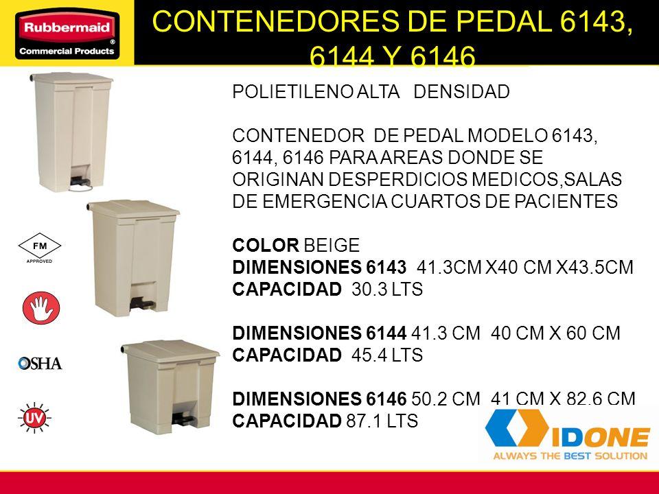 CONTENEDORES DE PEDAL 6143, 6144 Y 6146