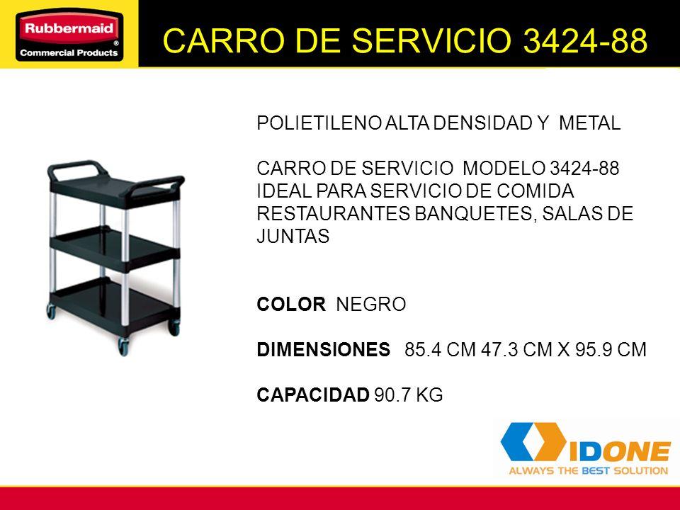 CARRO DE SERVICIO 3424-88 POLIETILENO ALTA DENSIDAD Y METAL