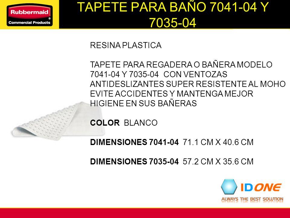 TAPETE PARA BAÑO 7041-04 Y 7035-04 RESINA PLASTICA