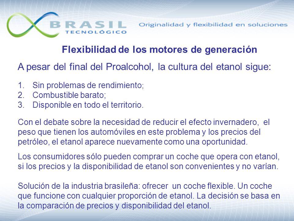 Flexibilidad de los motores de generación