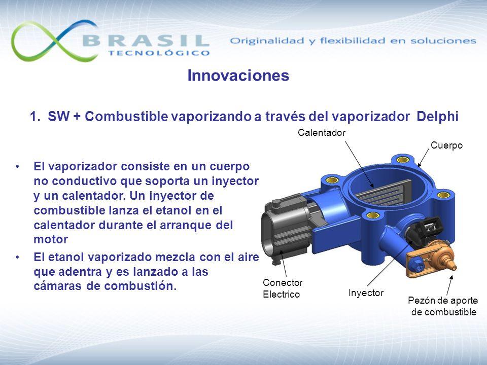 Innovaciones 1. SW + Combustible vaporizando a través del vaporizador Delphi. Inyector. Calentador.