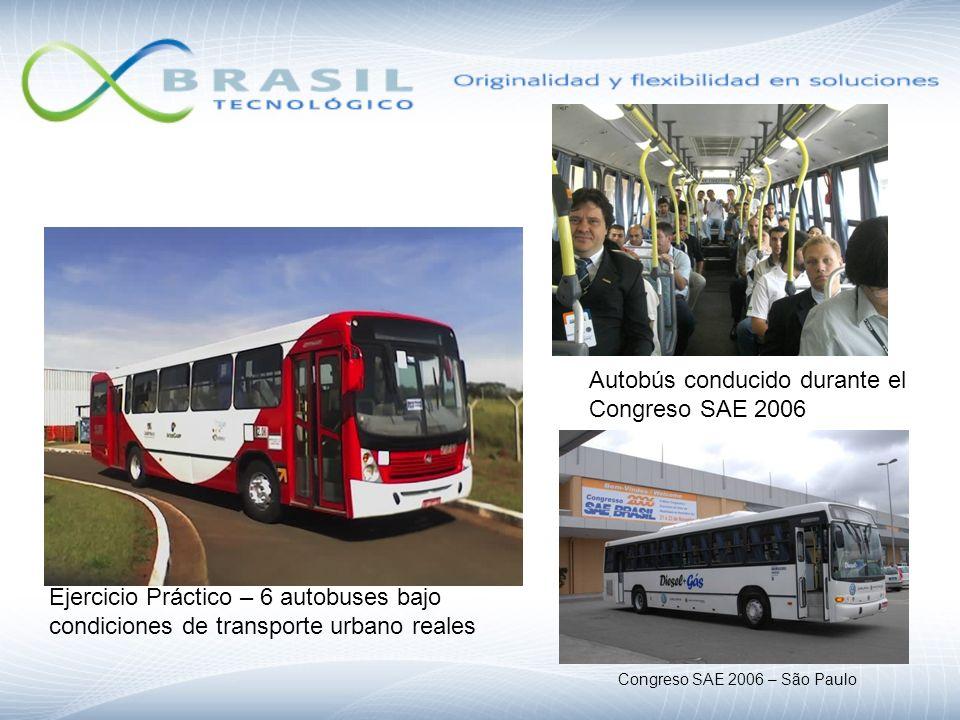 Autobús conducido durante el Congreso SAE 2006