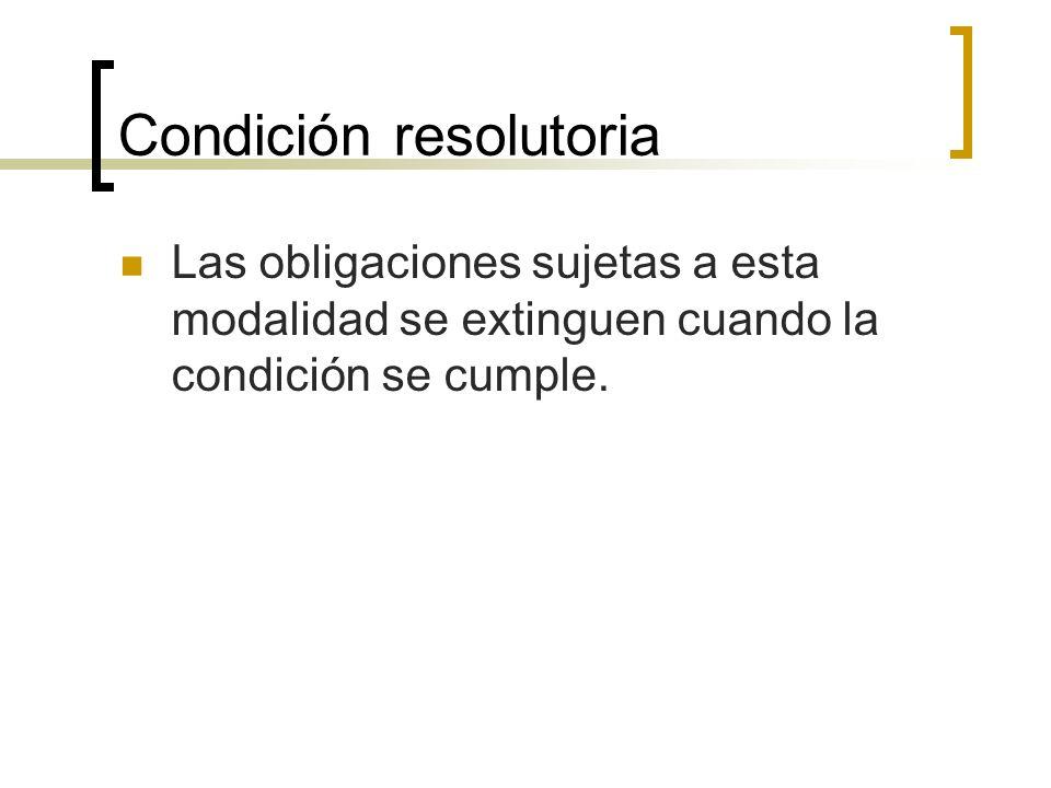 Condición resolutoria