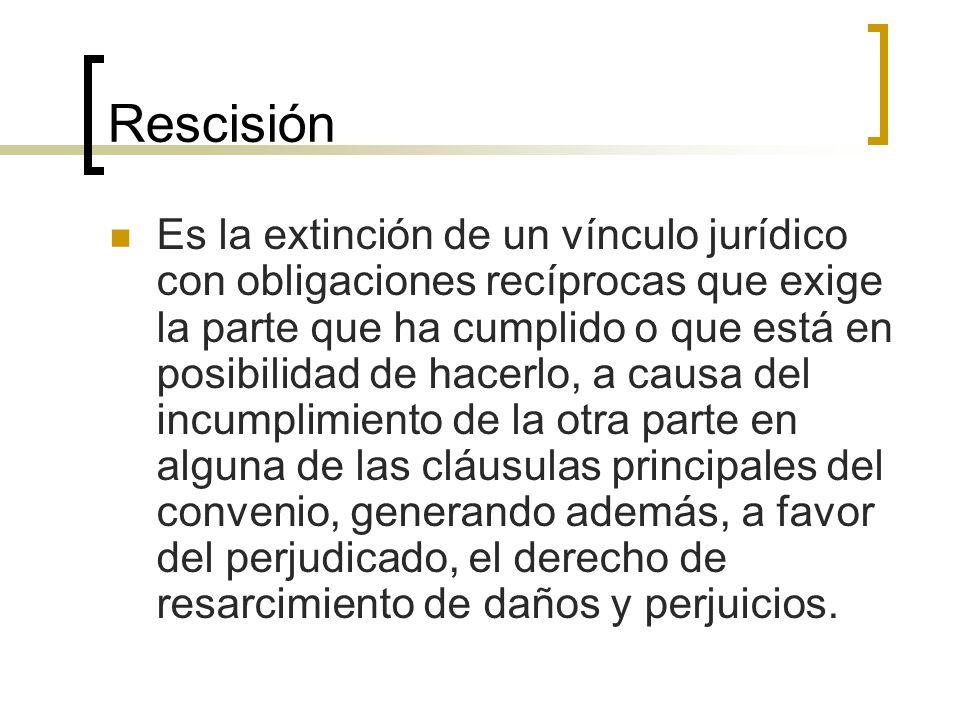 Rescisión