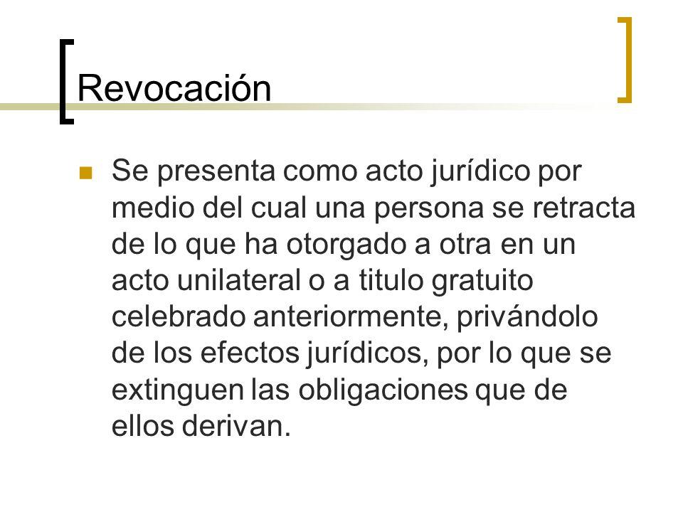 Revocación